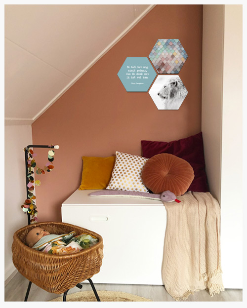 Kinderkamer tips hexagons